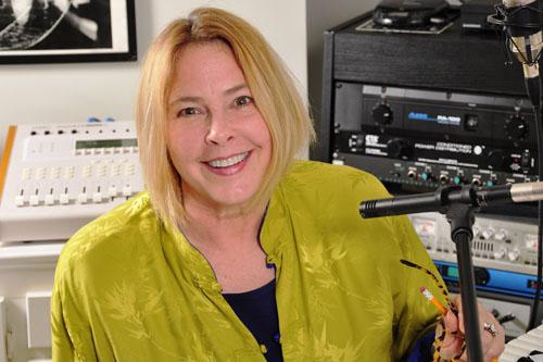 Erin Dickins in the Studio
