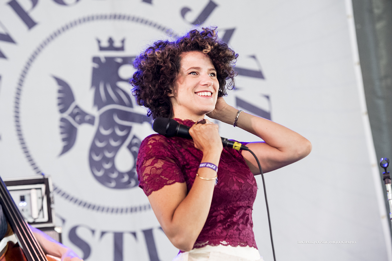 Cyrille Aimee at the 2017 Newport Jazz Festival