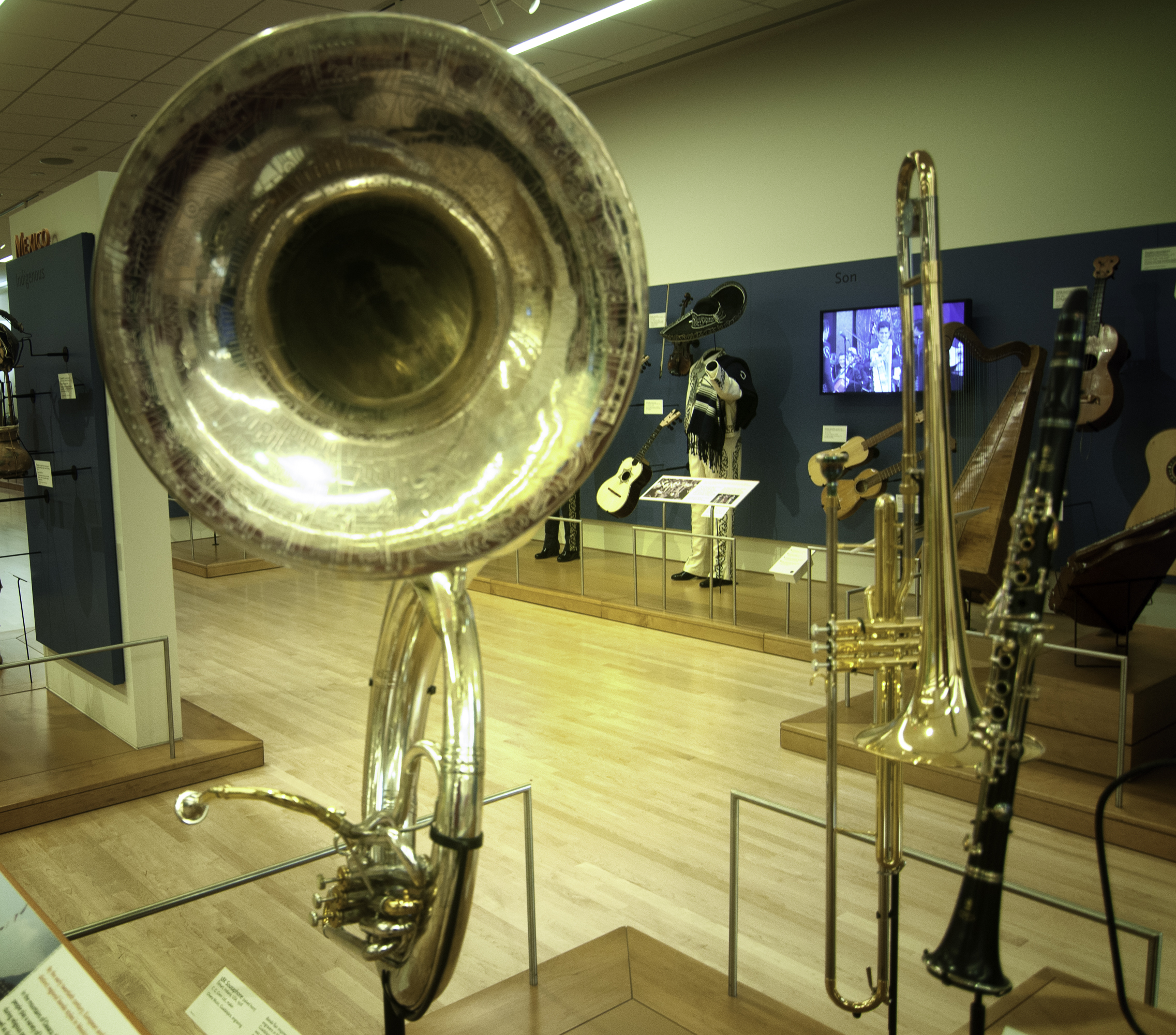 Sousaphone On Display At The Musical Instrument Museum (mim) In Phoenix