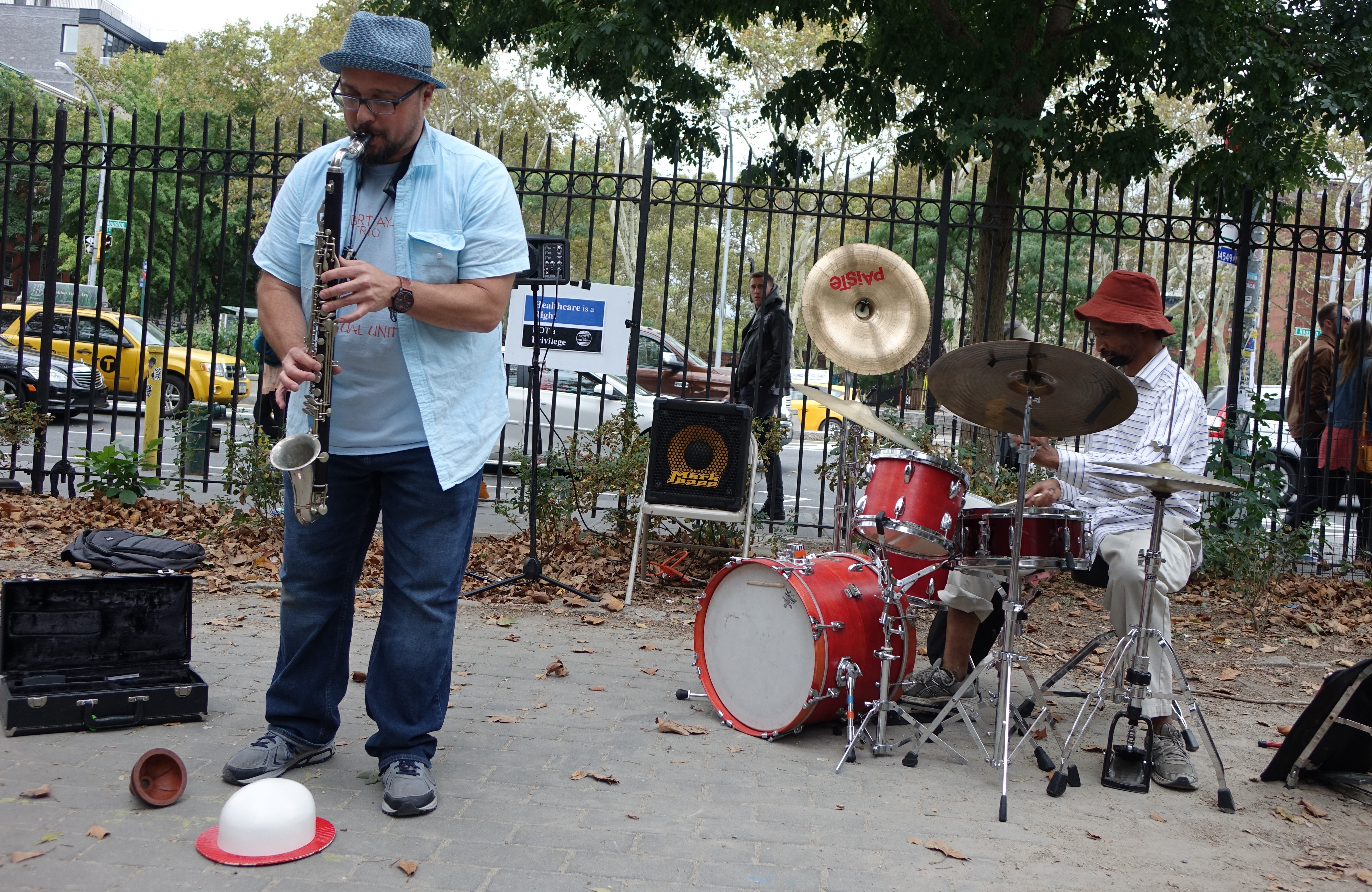 Matt Lavelle and Reggie Sylvester at First Street Green, NYC in September 2017