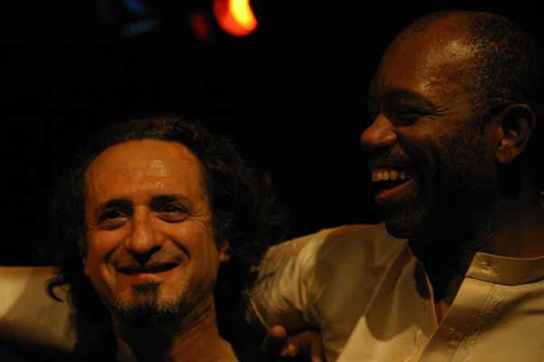 "Glenn Ferris and Sangoma Everett with ""Quartet Lindemann-Francioli-Ferris-Everett"" at Amr, Sud Des Alpes, Geneva, Switzerland, 2"