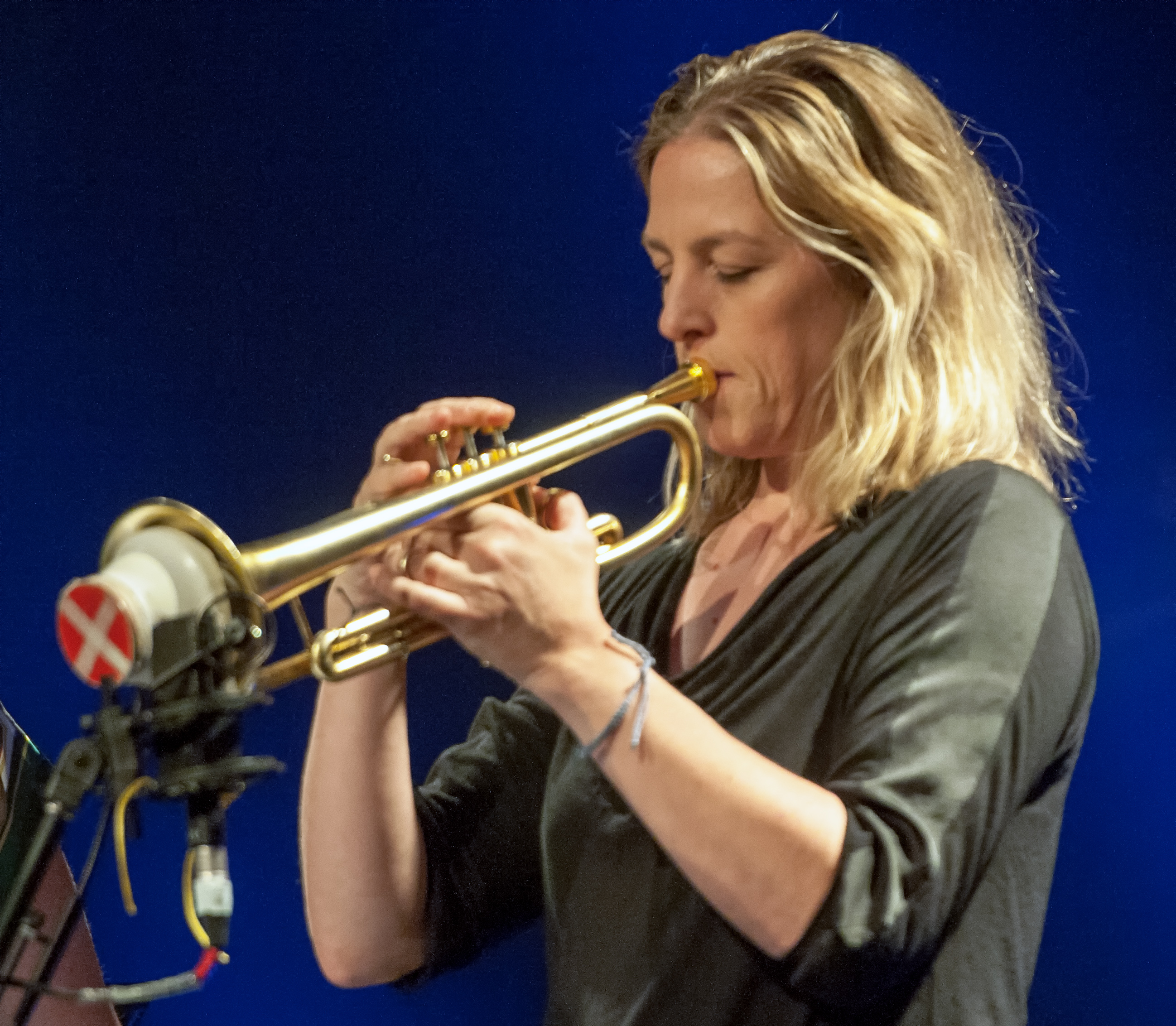 Ingrid jensen with christine jensen at the montreal international jazz festival 2013