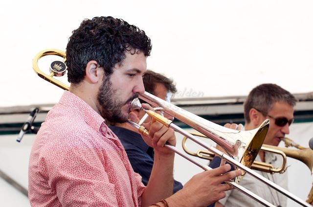 Alistair White Playing Trombone