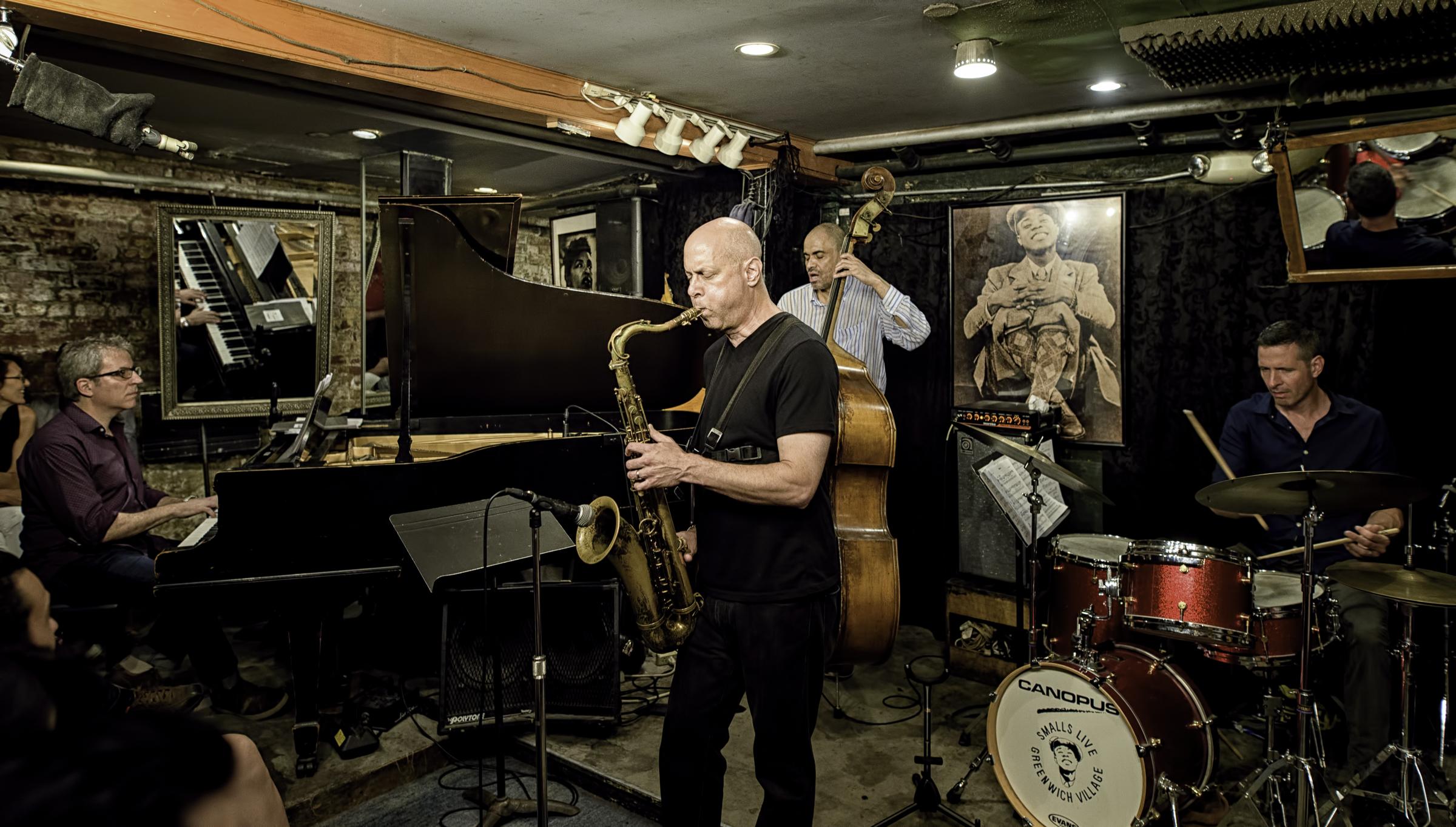 Peter Zak, Walt Weiskopf, Ugonna Okegwa and Jason Tiemann with the Walt Weiskopf Quartet at Smalls Jazz Club