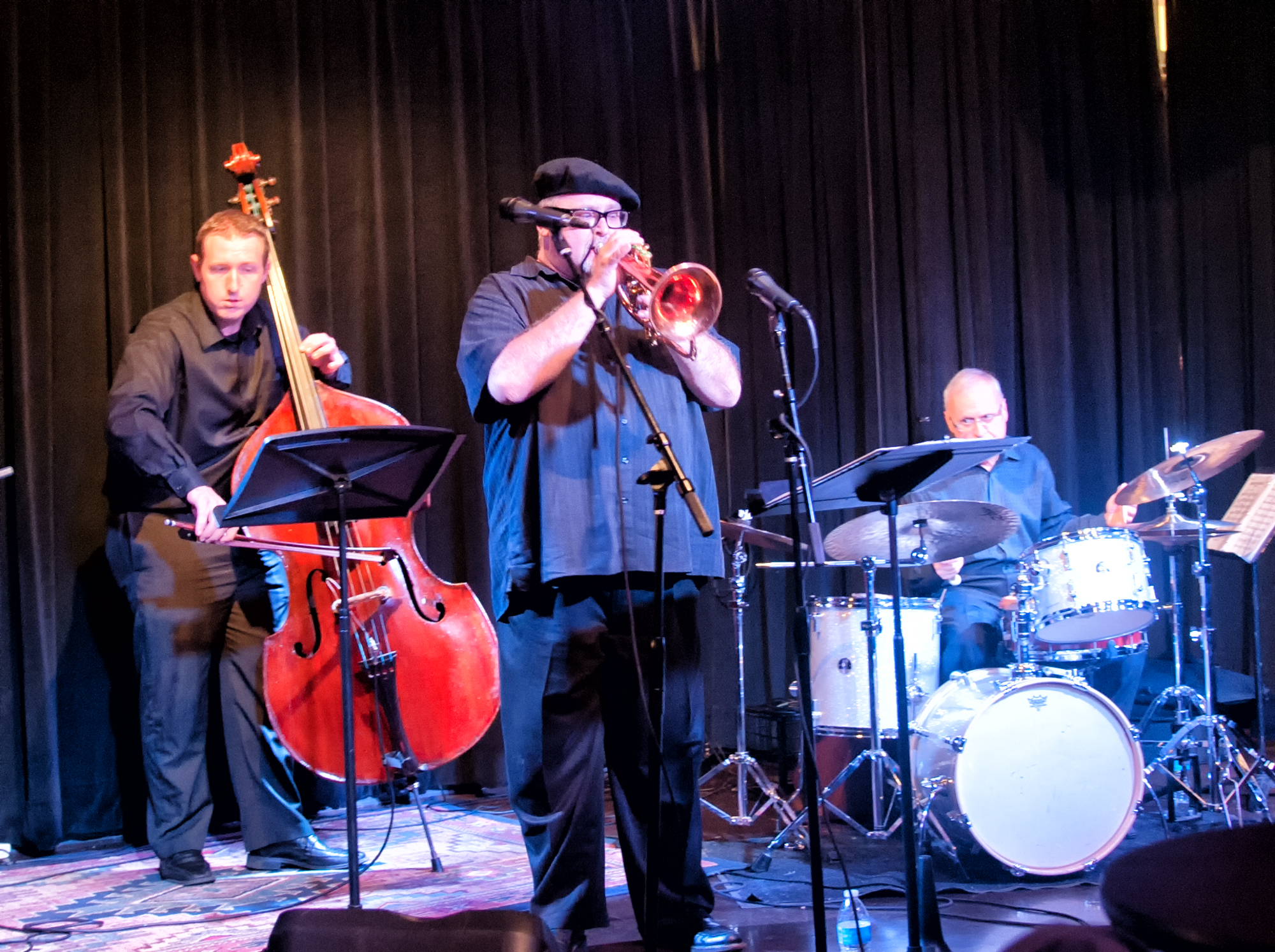 Chris Finet, Dmitri Matheny And Dom Moio With The Dmitri Matheny Quartet At The Nash