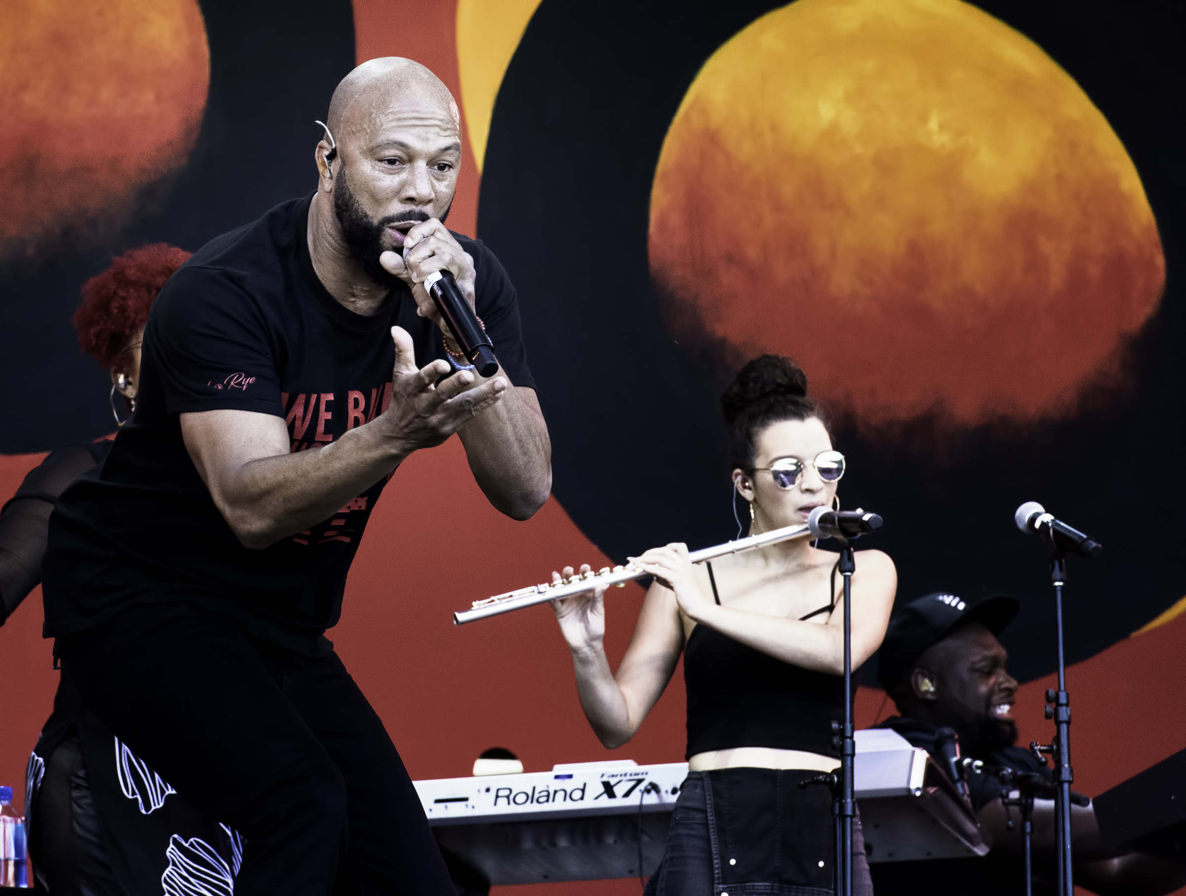 Common and Elena Pinderhughes at the Monterey jazz Festival