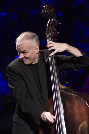 Lars Danielsson of Leszek Mozdzer Trio in Gdansk/Poland in Dec. 2005