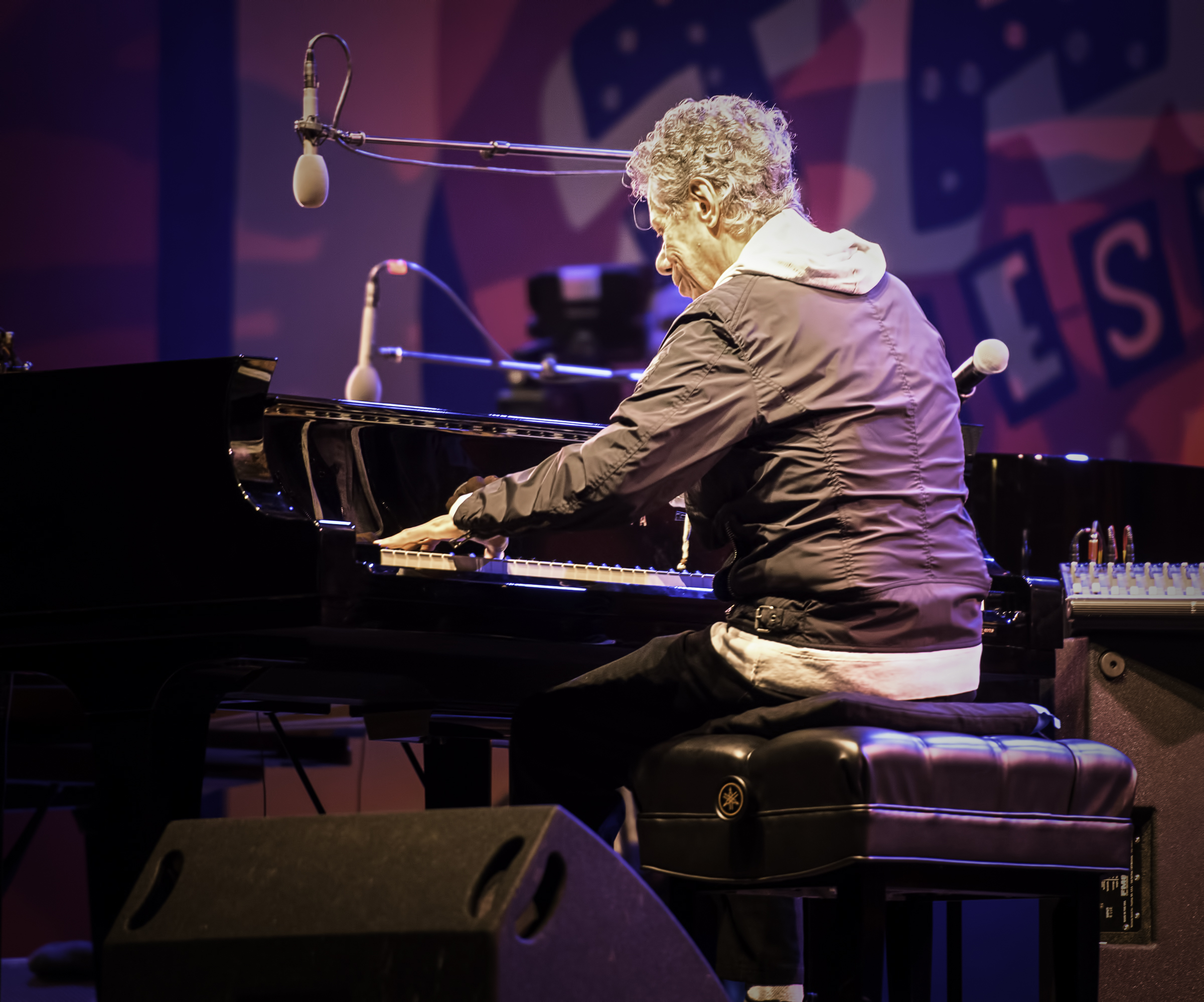 Chick Corea with Herbie Hancock at the Monterey Jazz Festival