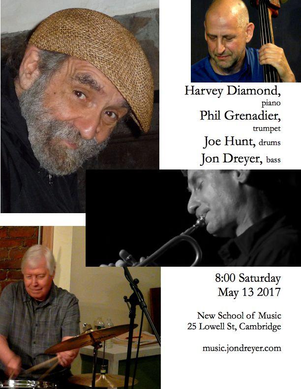 Harvey Diamond Quartet at the New School of Music