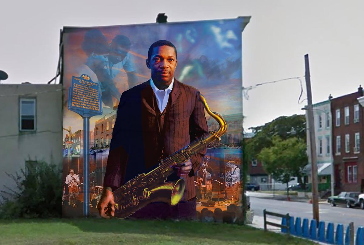 John Coltrane Mural In North Philadelphia