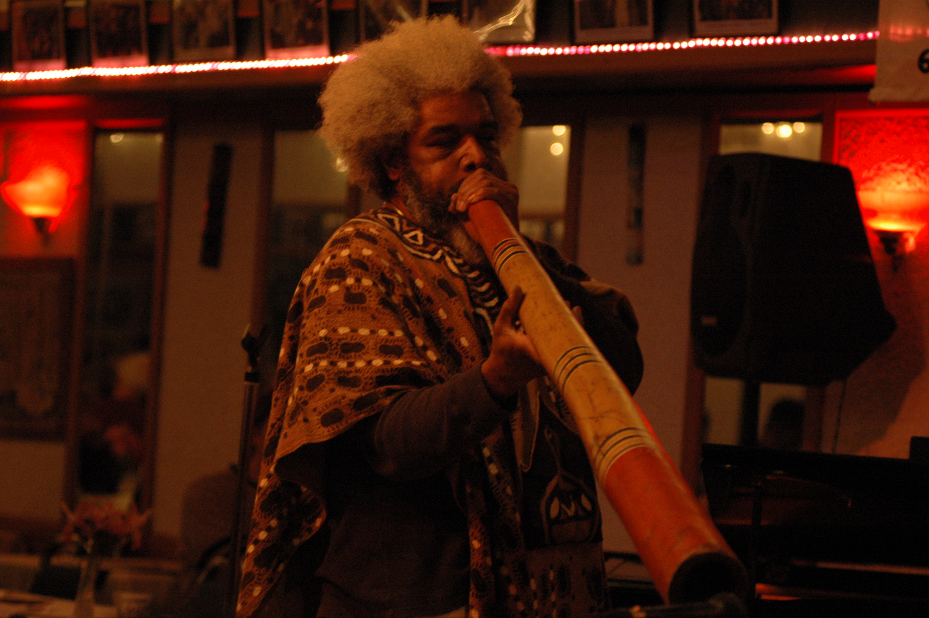Harold E. Smith Playing the Dijreedo at the First Annual Jazzbridge Concert