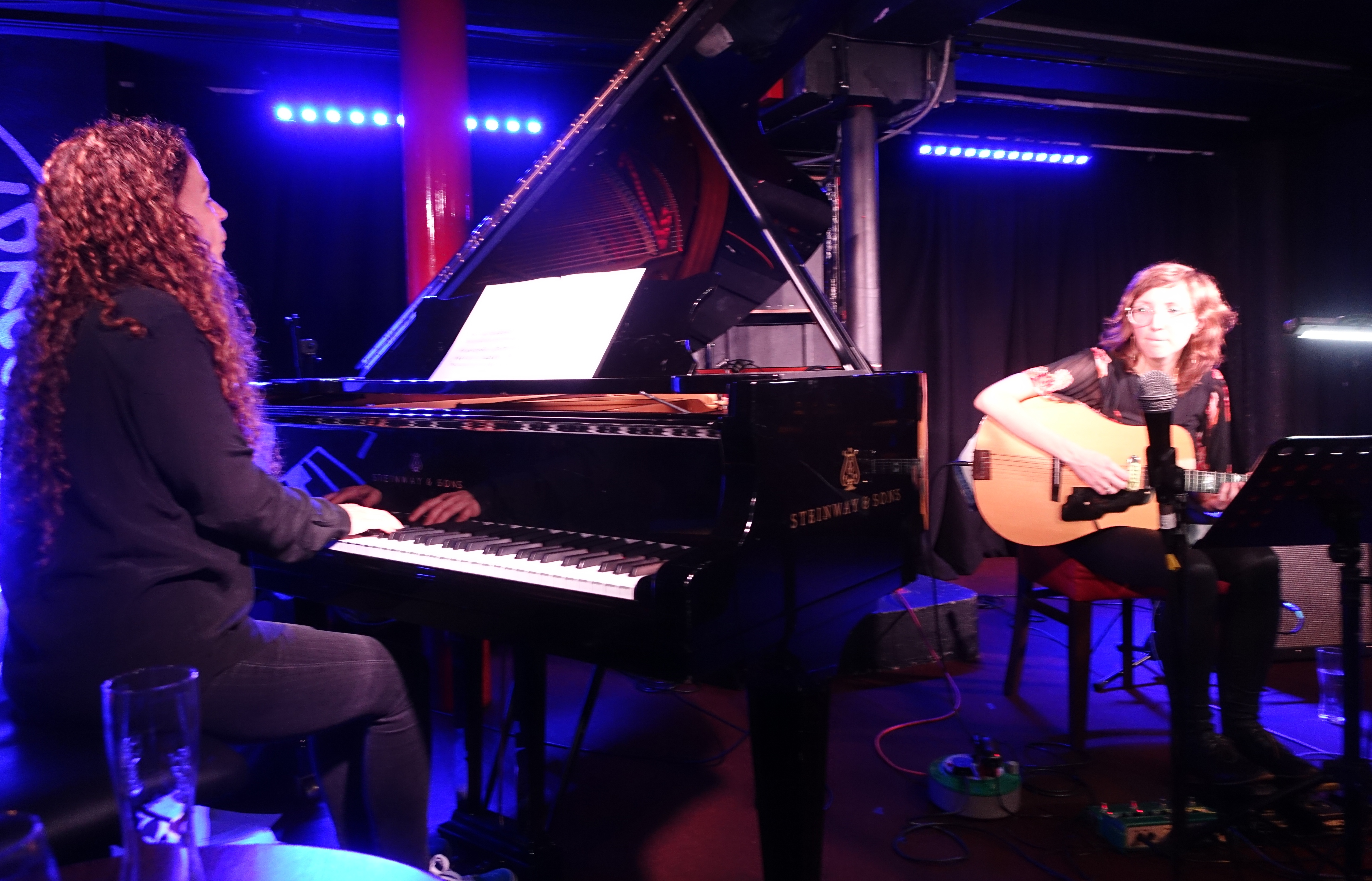 Sylvie Courvoisier and Mary Halvorson at Pizza Express, London in October 2018