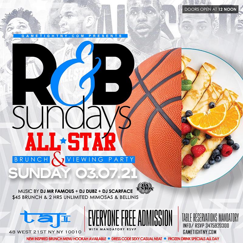 Taj Lounge Nyc Sunday Brunch Hip Hop Vs. Reggae® & R&b Day Party