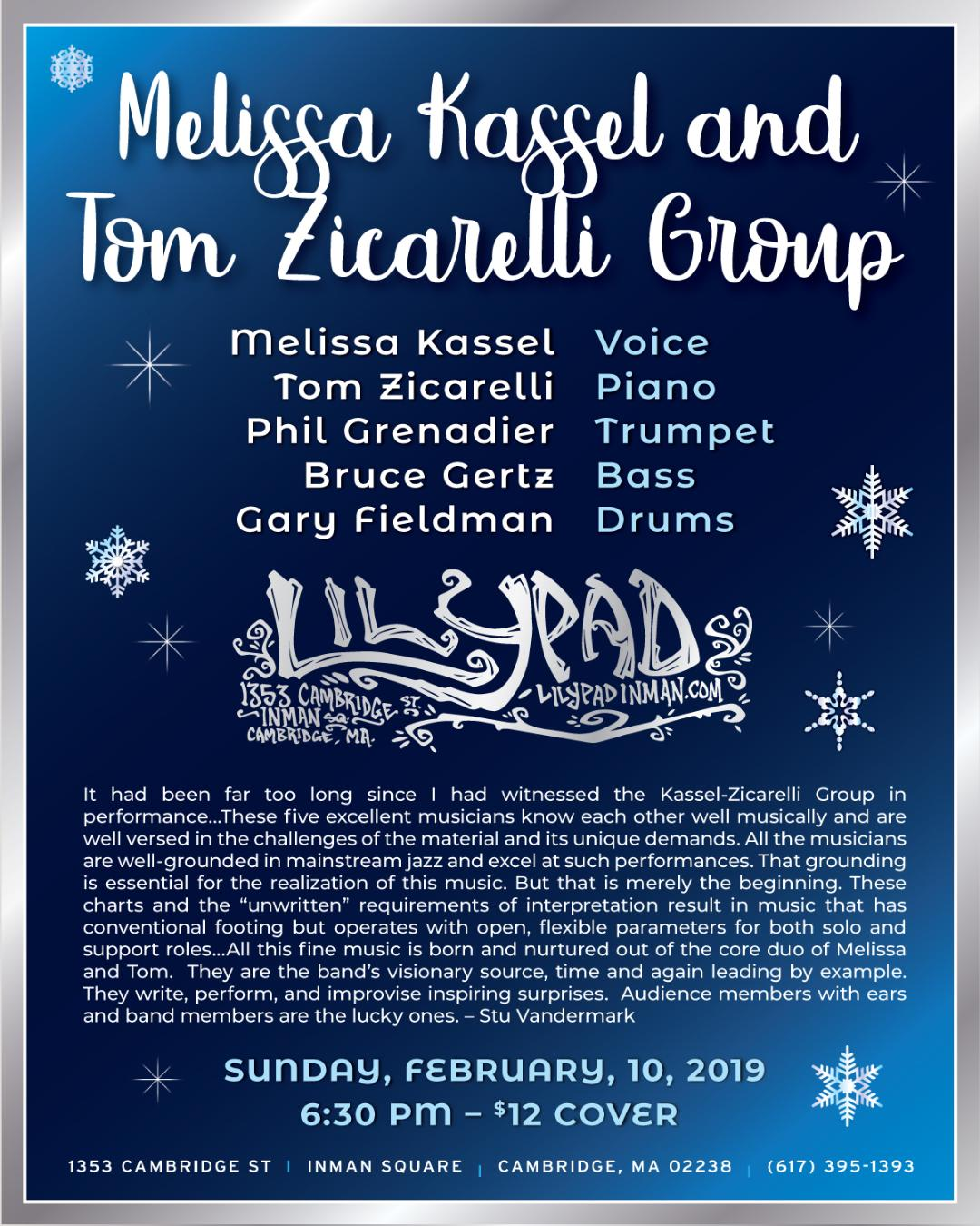 Melissa Kassel & Tom Zicarelli Group