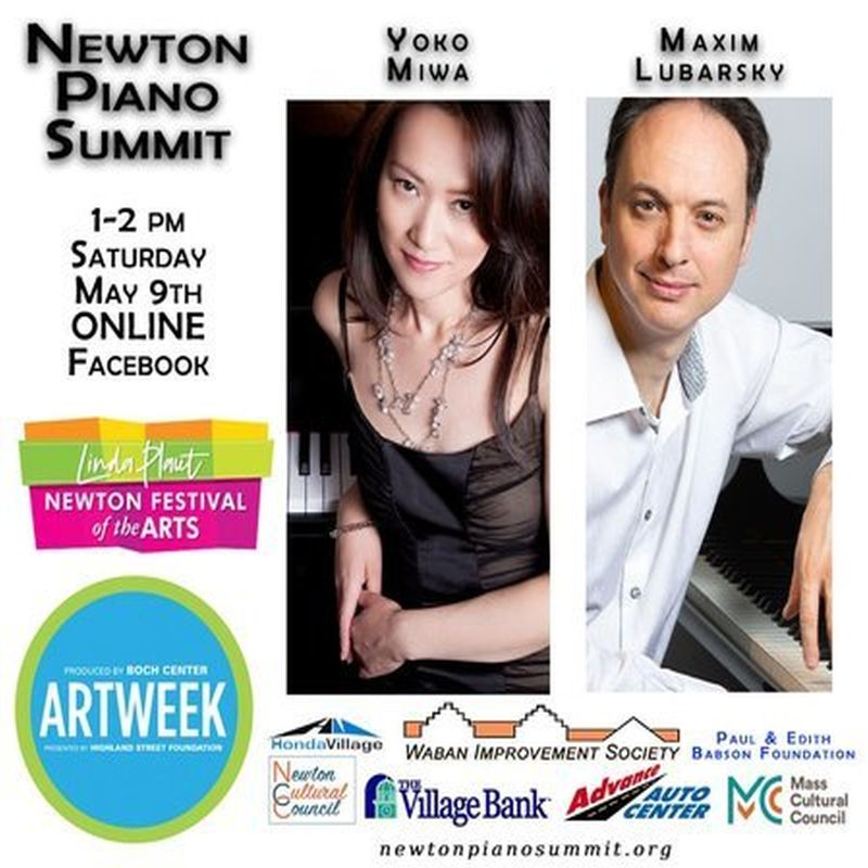 Newton Piano Summit Online Yoko Miwa And Maxim Lubarsky