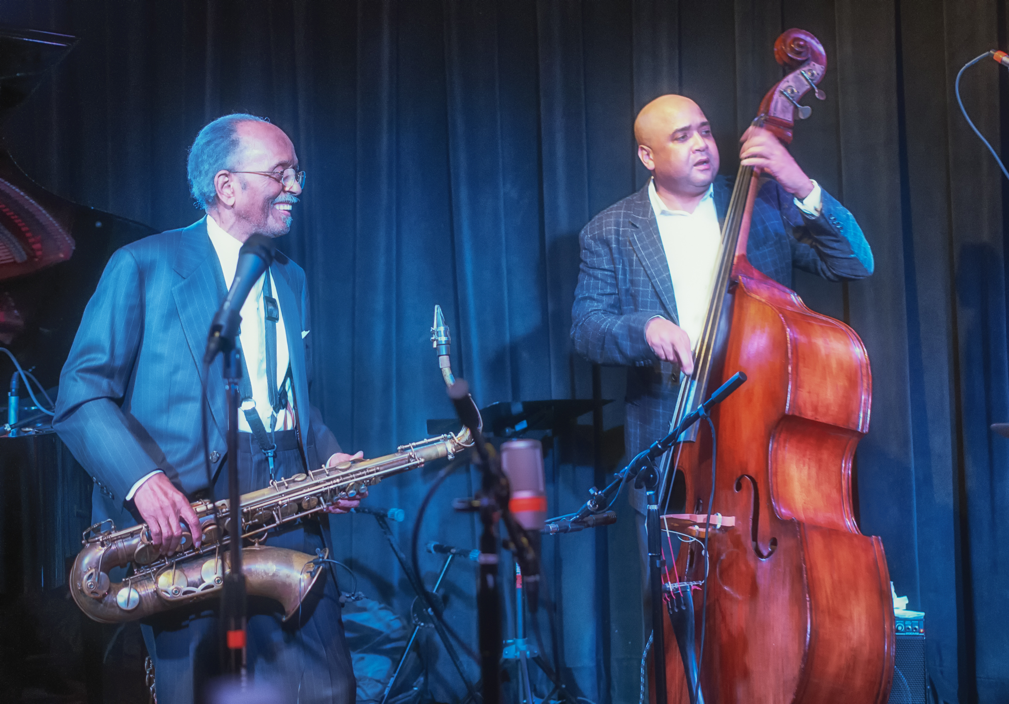 Jimmy Heath And Peter Washington At The Nash's Second Anniversary Celebration In Phoenix