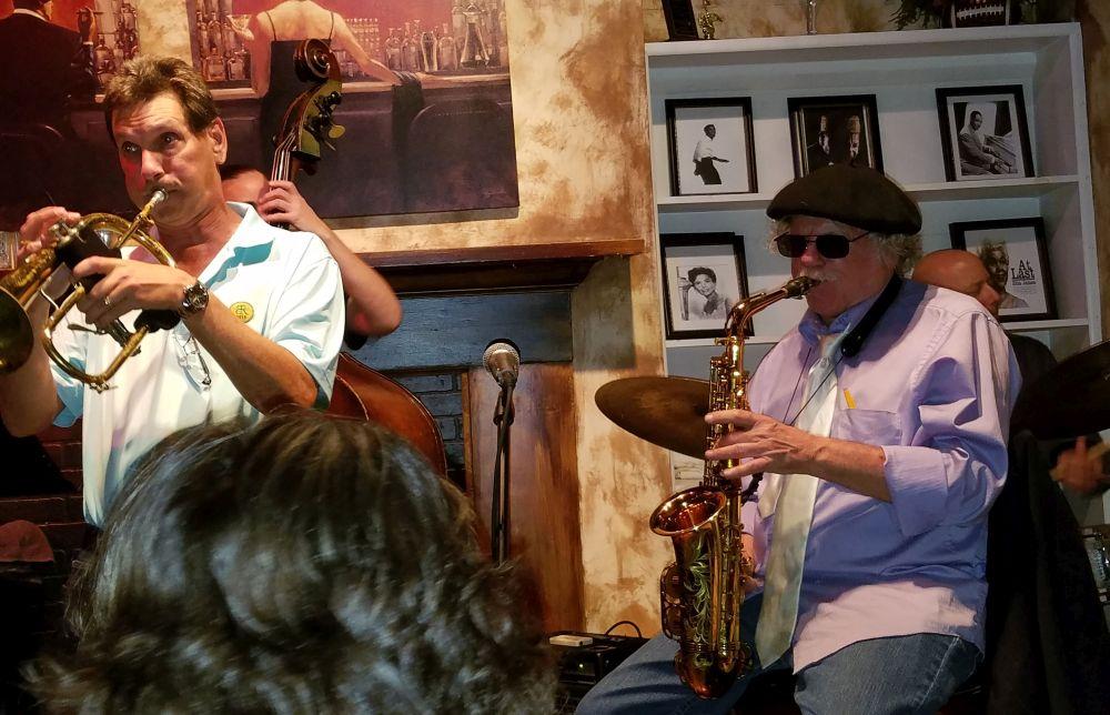 Richie Cole with Charleston Trumpet player Jon Thornton
