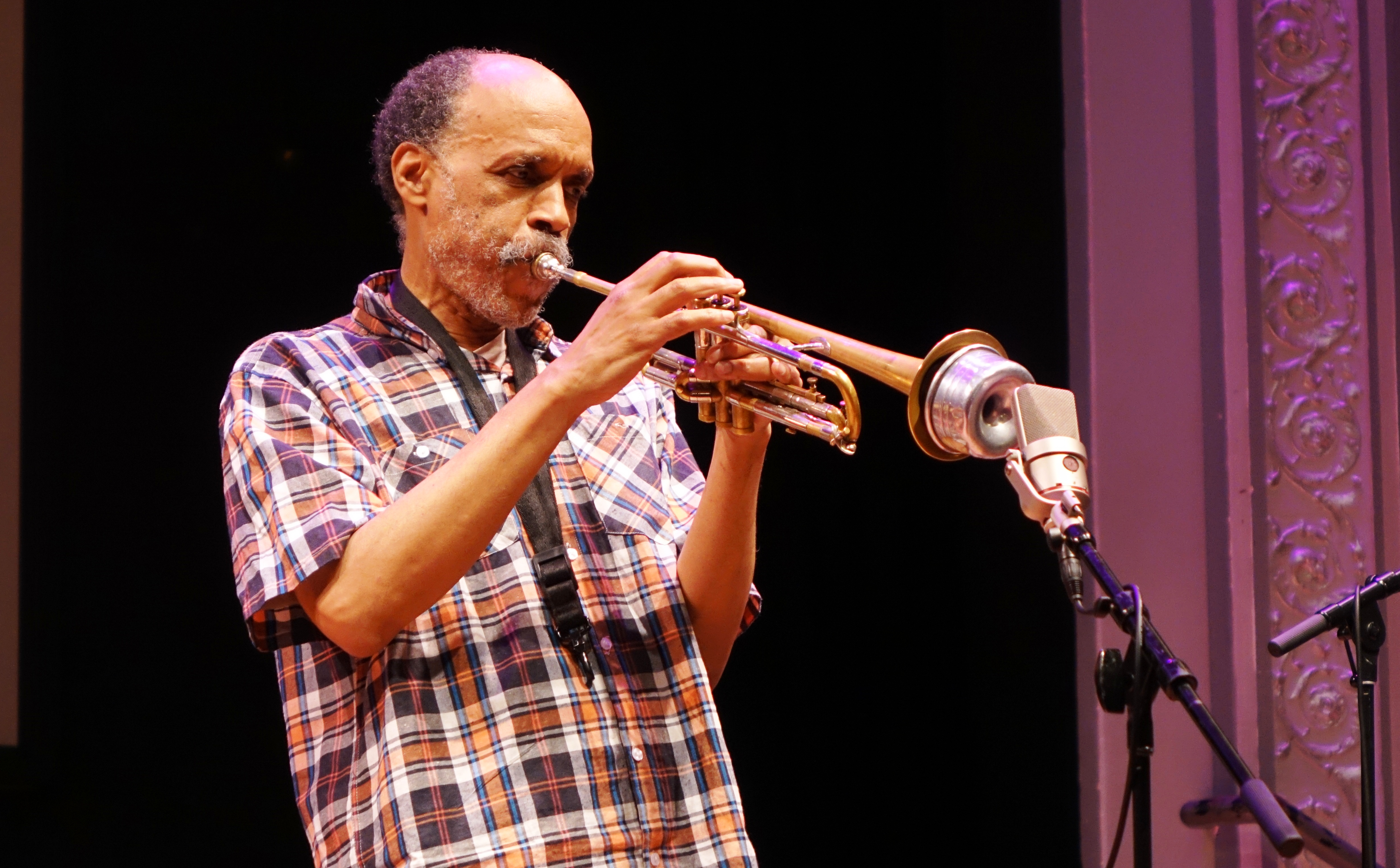 Daniel Carter at the Vision Festival at Roulette, Brooklyn in May 2018