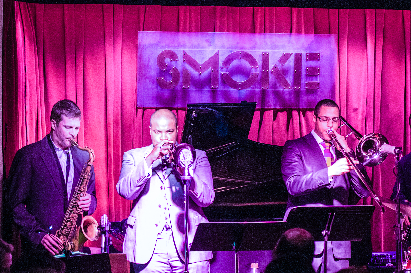 Eric alexander and jeremy pelt and james burton iii with one for all at smoke jazz club
