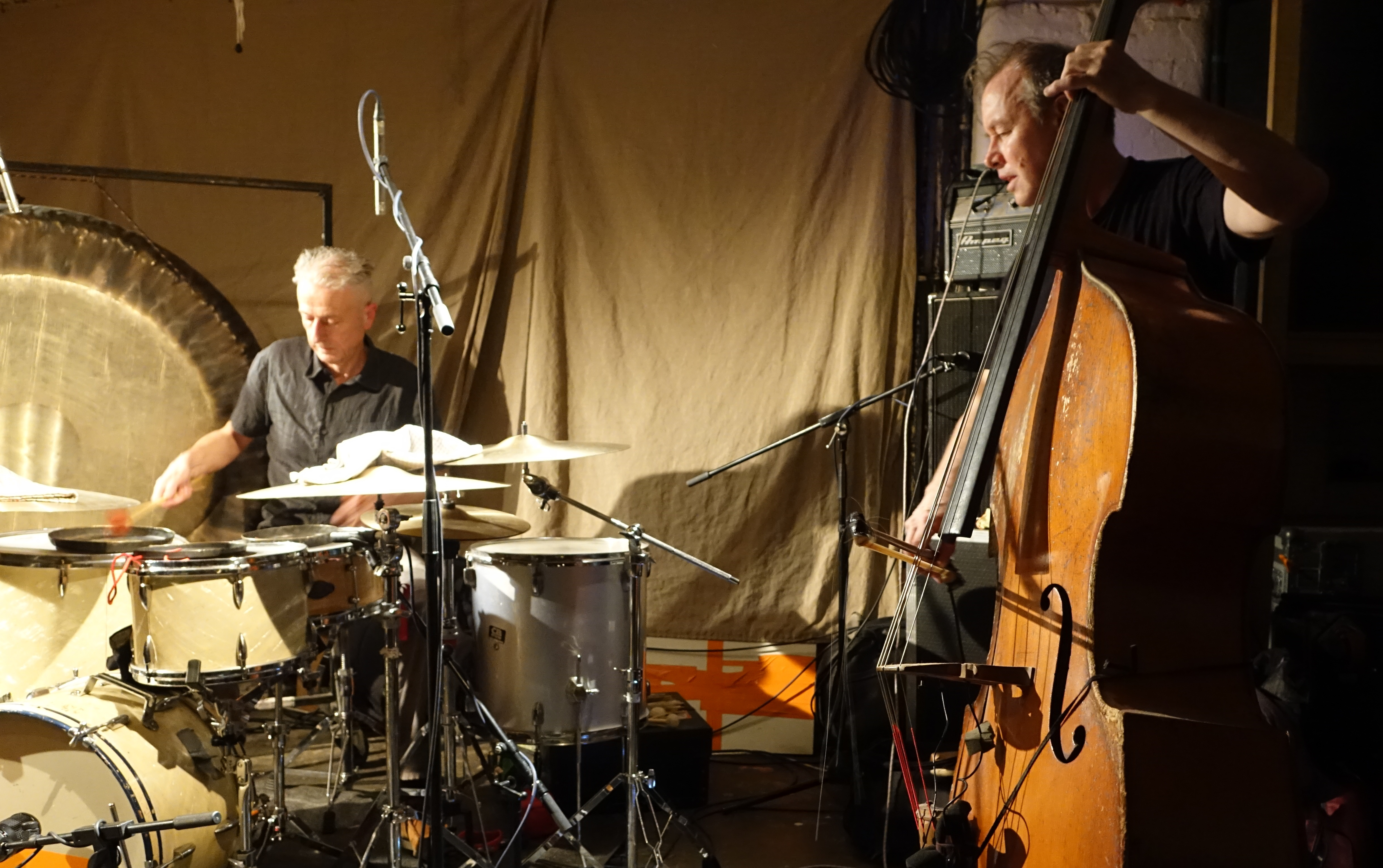 Steve Noble and John Edwards at Cafe Oto, London in May 2019