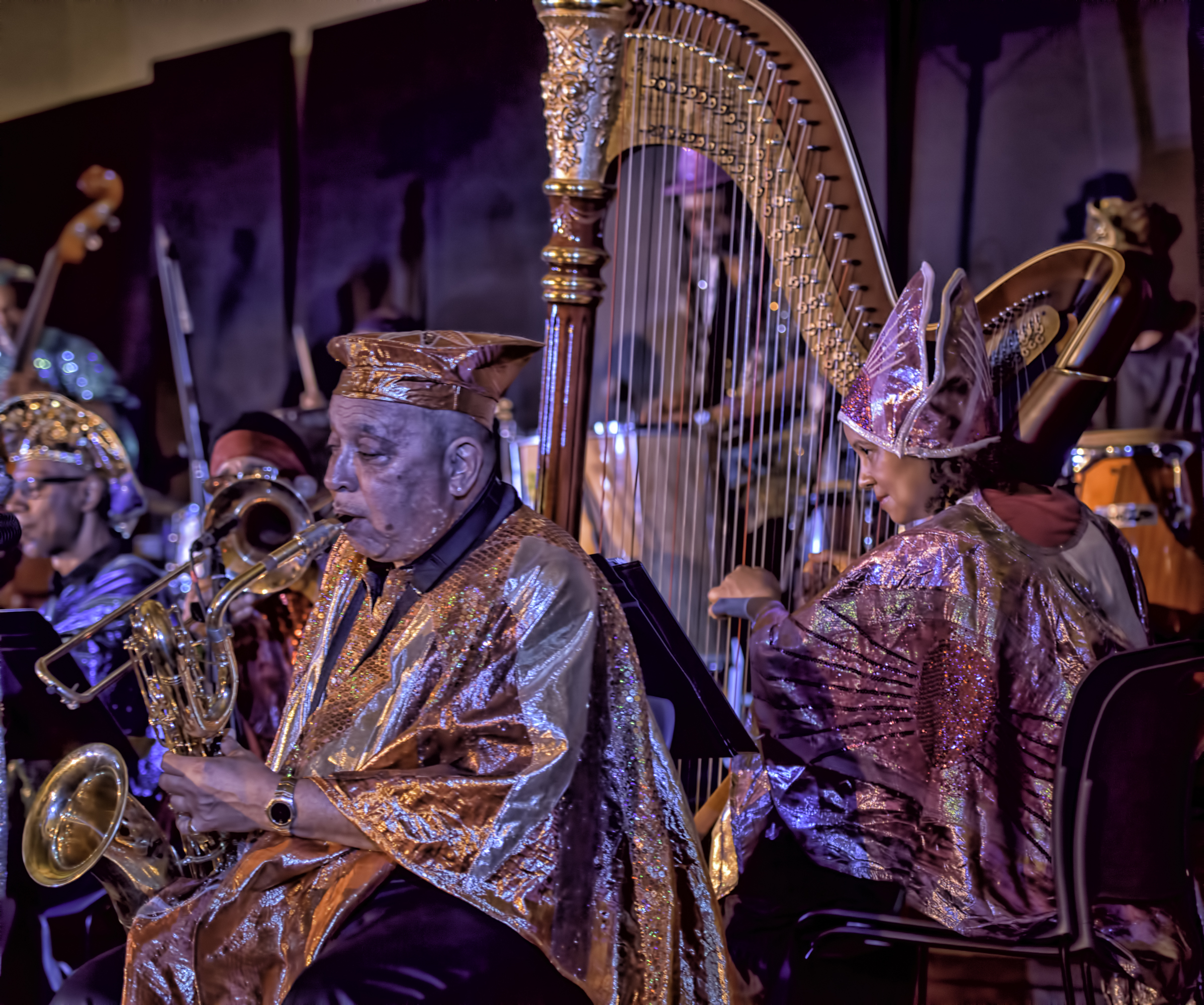 Danny Ray Thompson and Nina Bogomas with the Sun Ra Arkestra Directed by Marsall Allen at the 20th Anniversary Vision Festival 2015