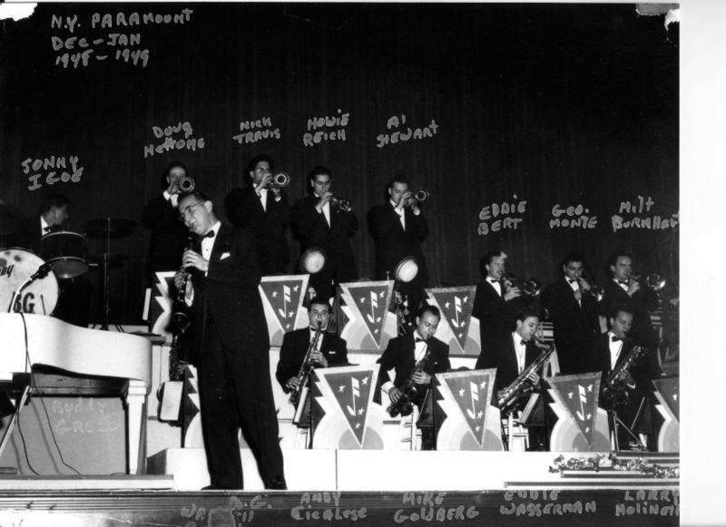 Doug with benny goodman, 1949