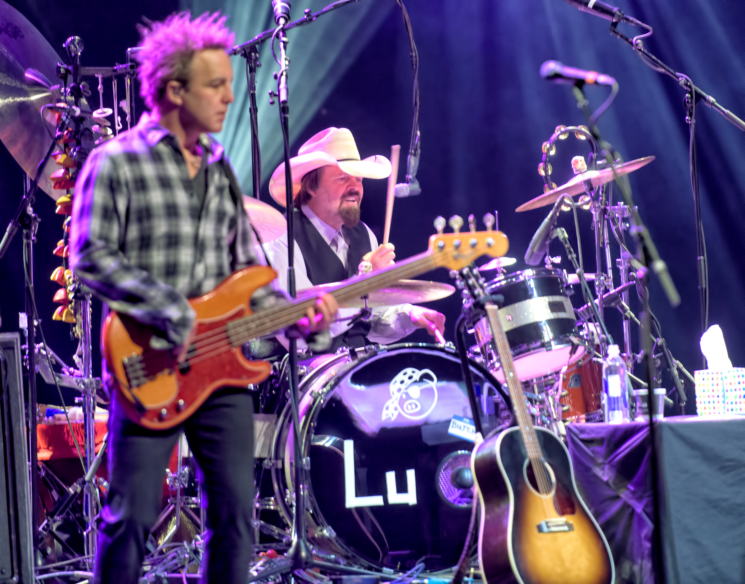 David Sutton and Butch Norton with Lucinda Williams at the Montreal jazz Festival 2015