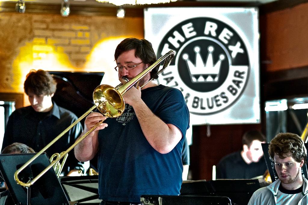 Patrick Blanchard with the Toronto Jazz Orchestra, the Rex, Toronto