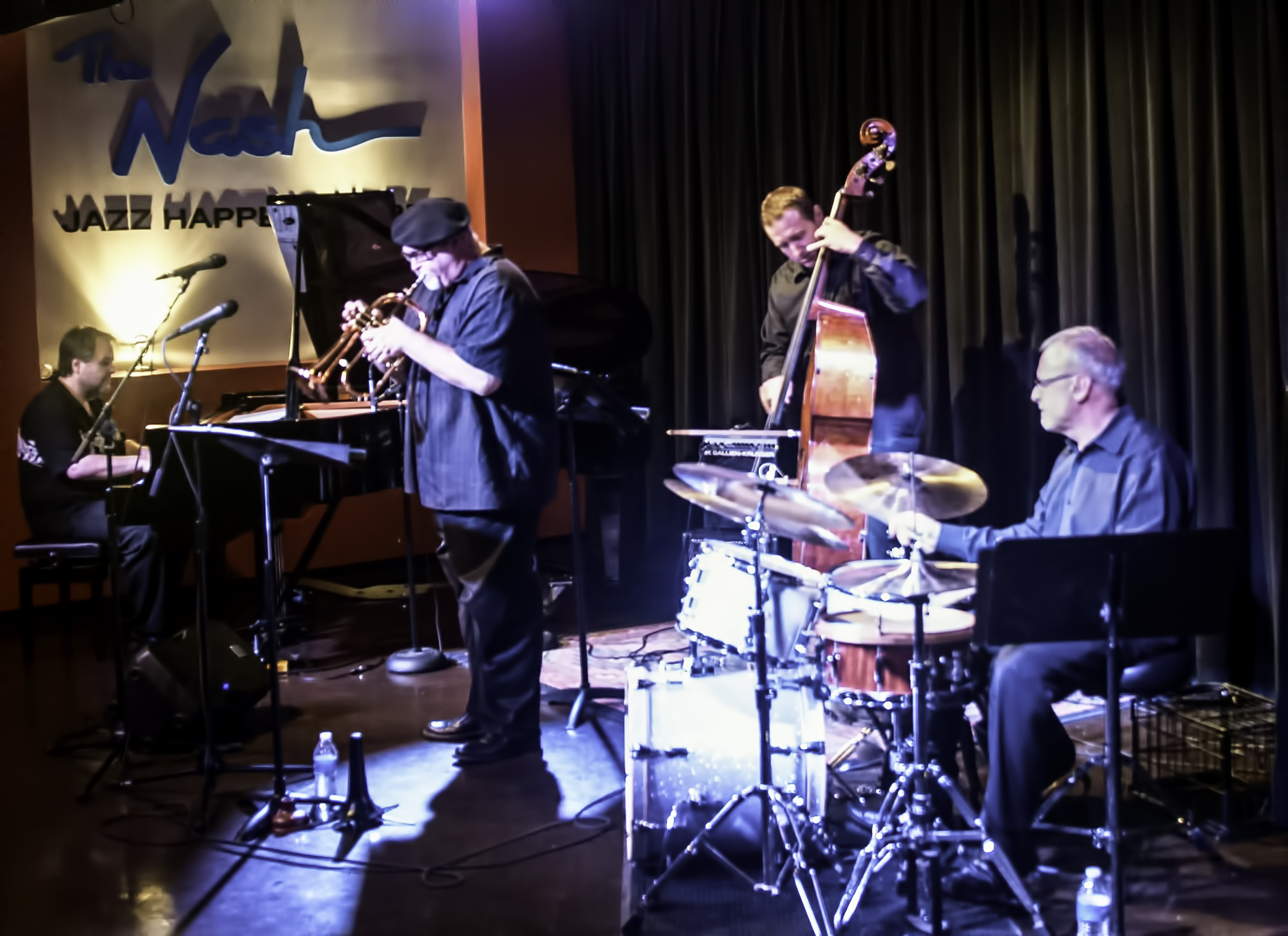 Nick Manson, Dmitri Matheny, Chris Finet And Dom Moio With The Dmitri Matheny Quartet At The Nash