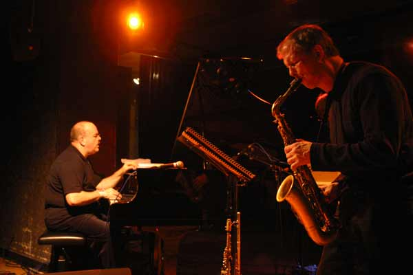 "David Berkman and Dick Oatts with ""David Berkman Quartet"" at Amr, Sud Des Alpes, Geneva, Switzerland,2004"