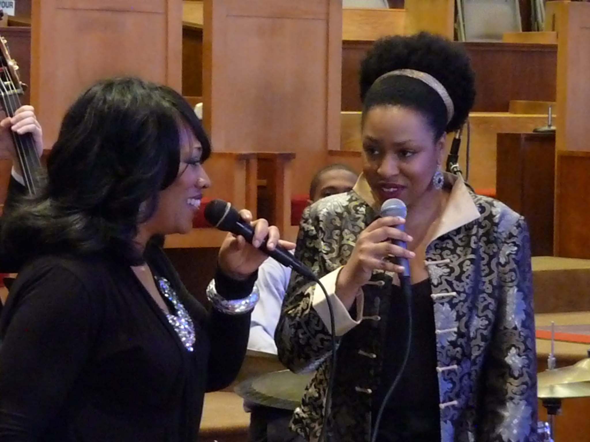 Evelyn Wright and Charenee Wade at Tri-C Jazzfest Cleveland 2011