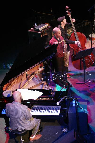 """Andrew Hill, Greg Tardy and John Hebert with the """"Andrew Hill Quintet"""" at the Amr Jazz Festival, Alhambra, Geneva, Switzerland,"""
