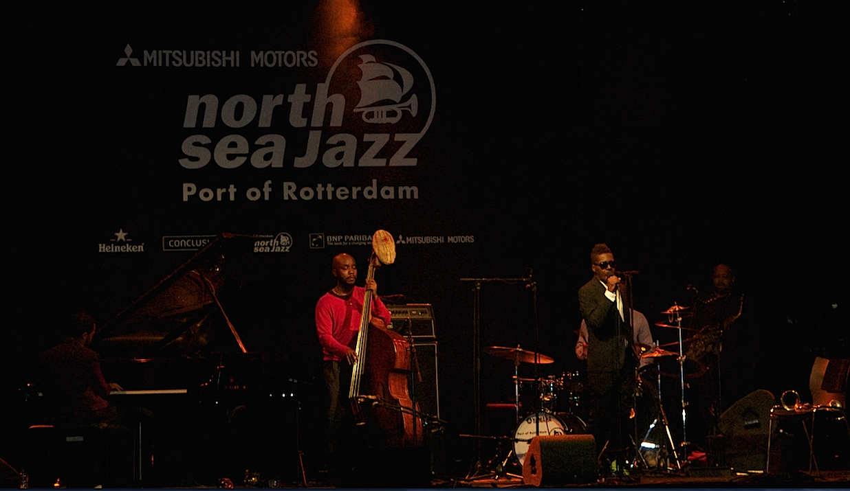Roy Hargrove takes a break from his horn to sing