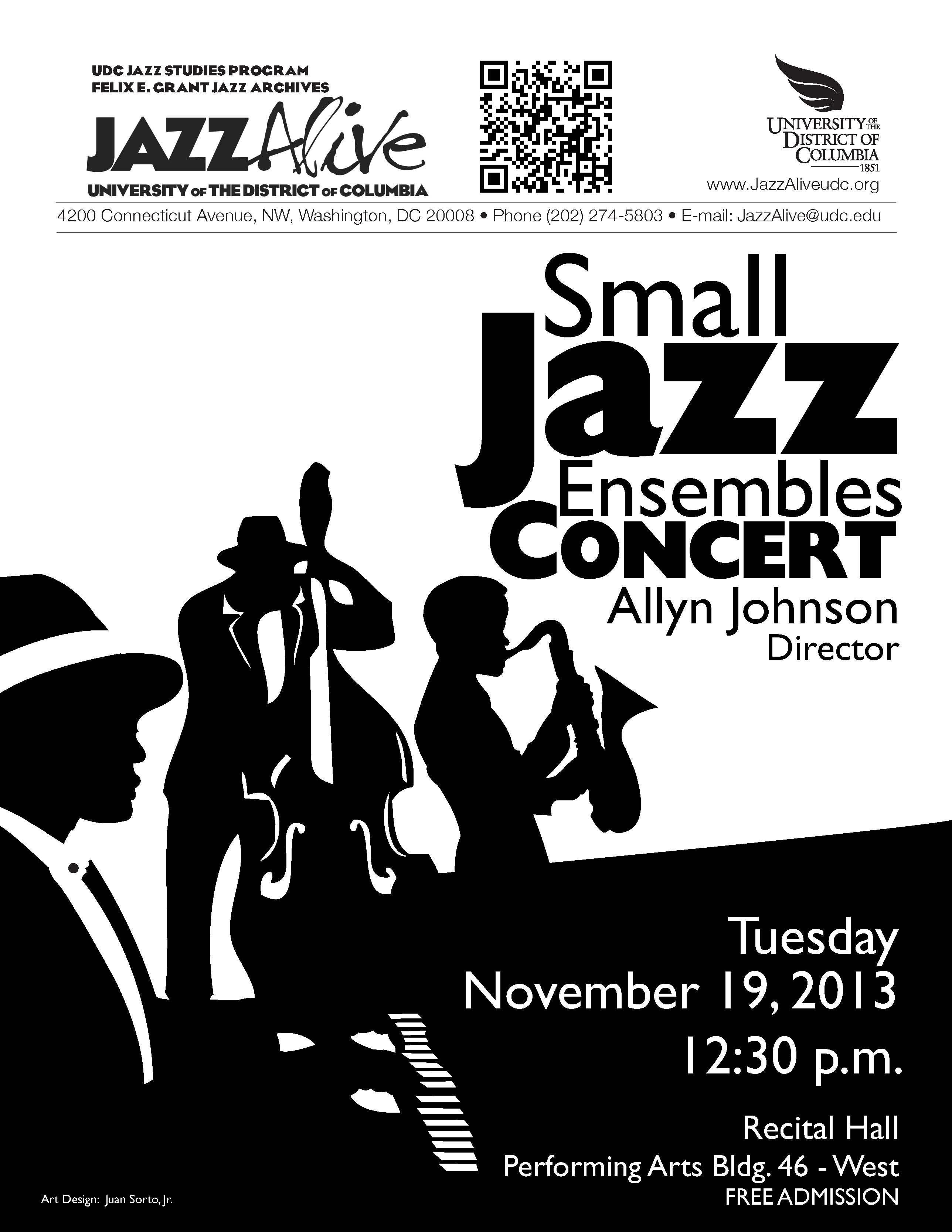 Udc small jazz ensembles concert, dir. allyn johnson
