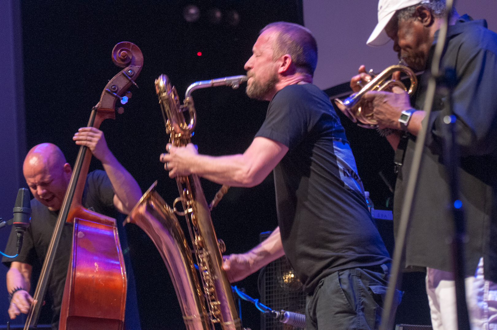 Mats Gustafsson, Joe Mcphee And Ingebrigt Haker Flaten With The Thing At The Vision Festival 2012