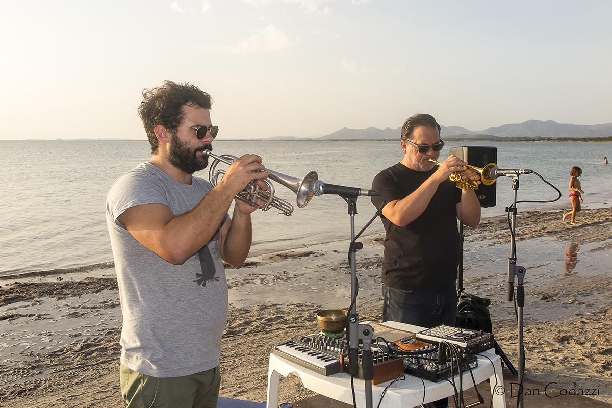 Gabriele Mitelli and Rob Mazurek at Sant'Anna Arresi Festival jazz 2018