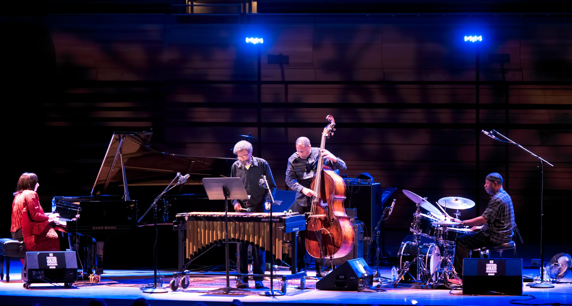 Rene Rosnes, Steve Nelson, Robert Hurst and Lenny White at The Montreal International Jazz Festival 2018