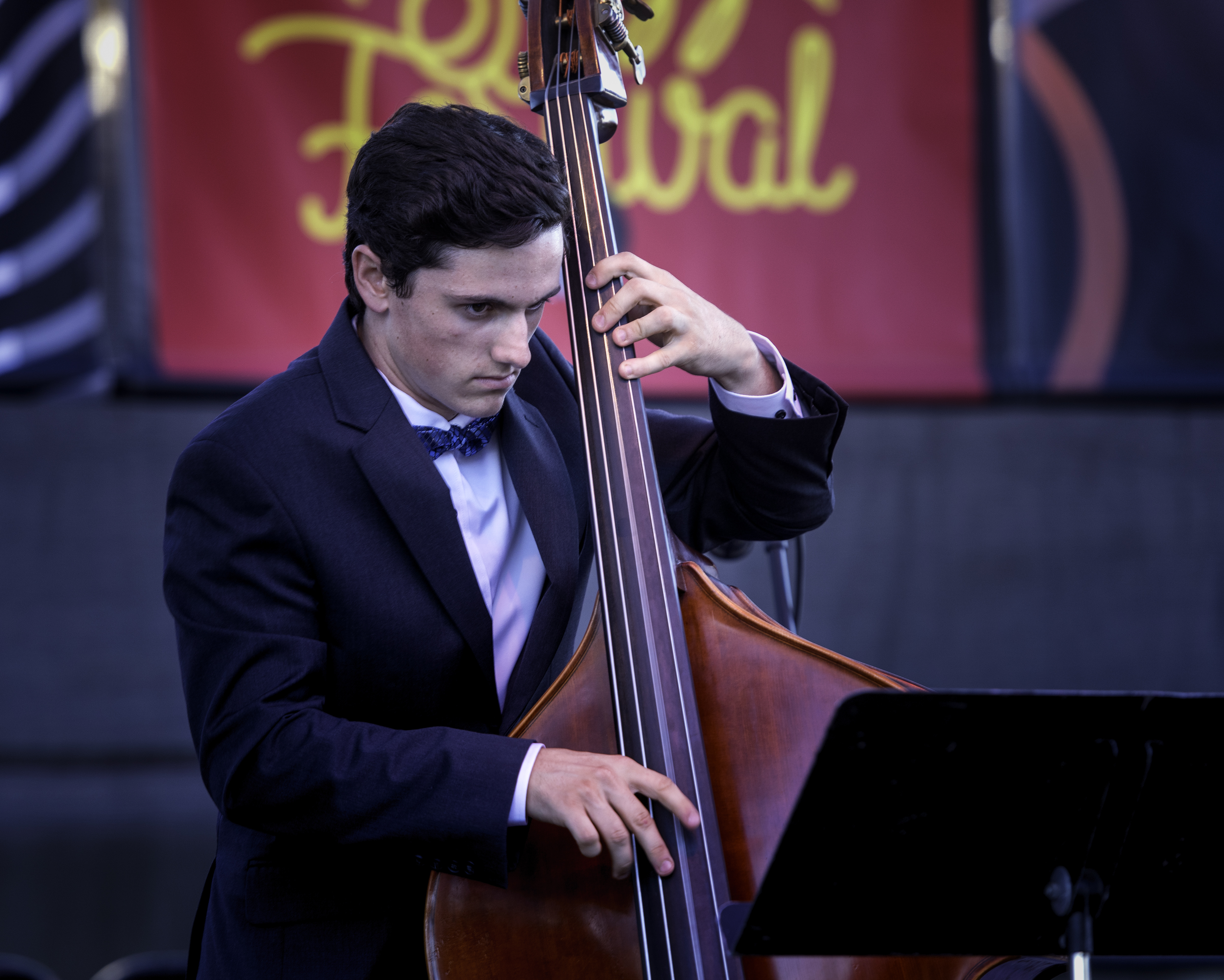 Aaron Georis with Blue Clay at the Monterey Jazz Festival 2018