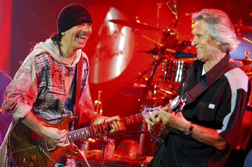 Carlos Santana and John McLaughlin in 2004