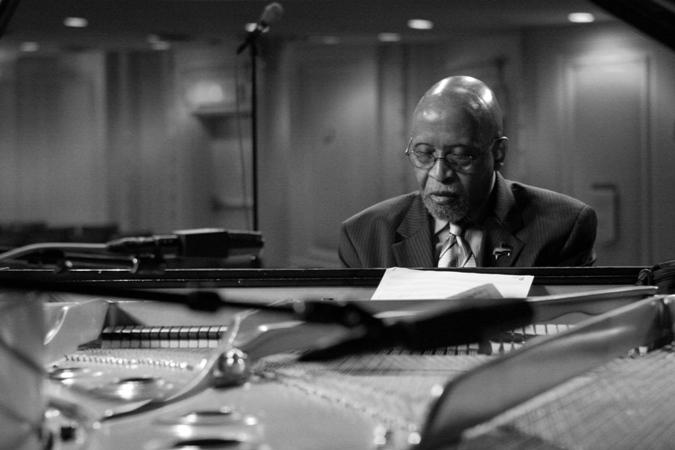 Junior Mance; Rehearsing for Joe Segal's 80th Birthday Celebration; Chicago April 2006