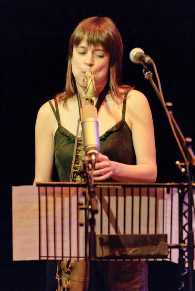 Ingrid Laubrock Playing Tenor
