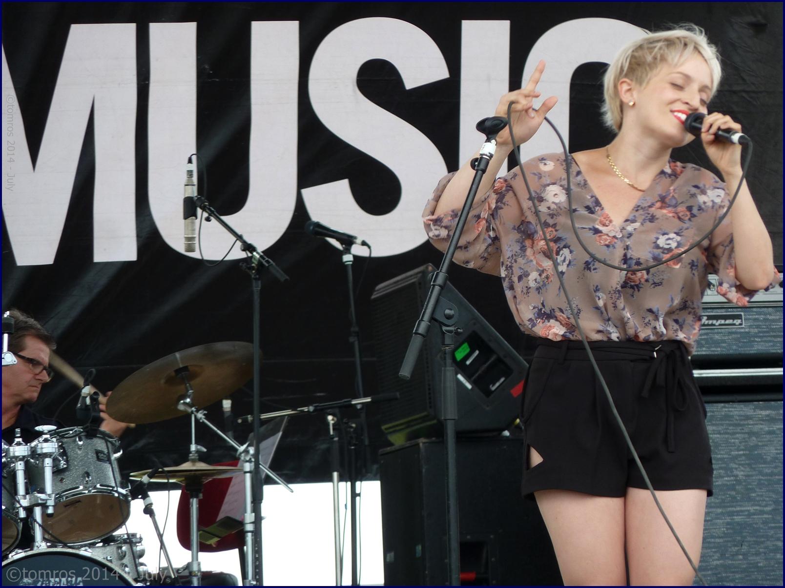 Barbra Lica at Beaches Jazz Festival. July 26, 2014