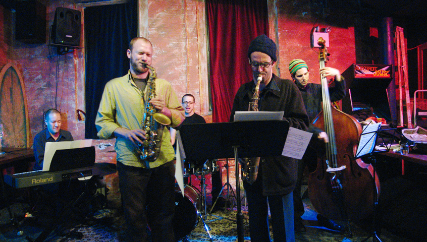 Nicolas Letman-Burtinovic's Bomb-X with Michal Attias, Peter Van Huffel, Art Hirahara and Ziv Ravitz - Tea Lounge 2006