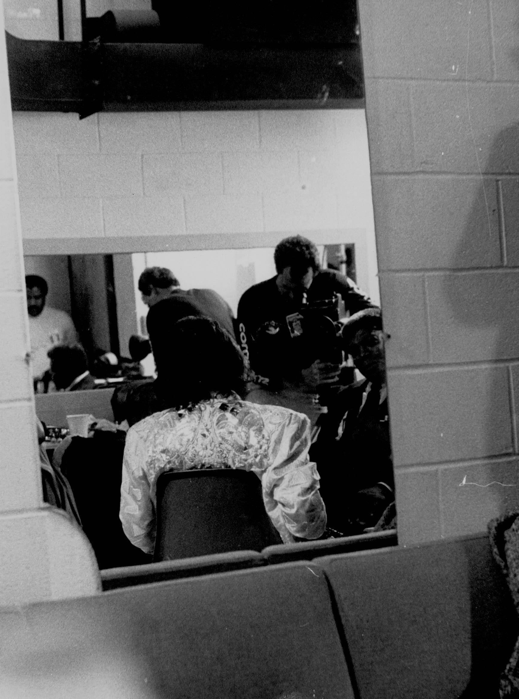 Miles Davis in the dressing room