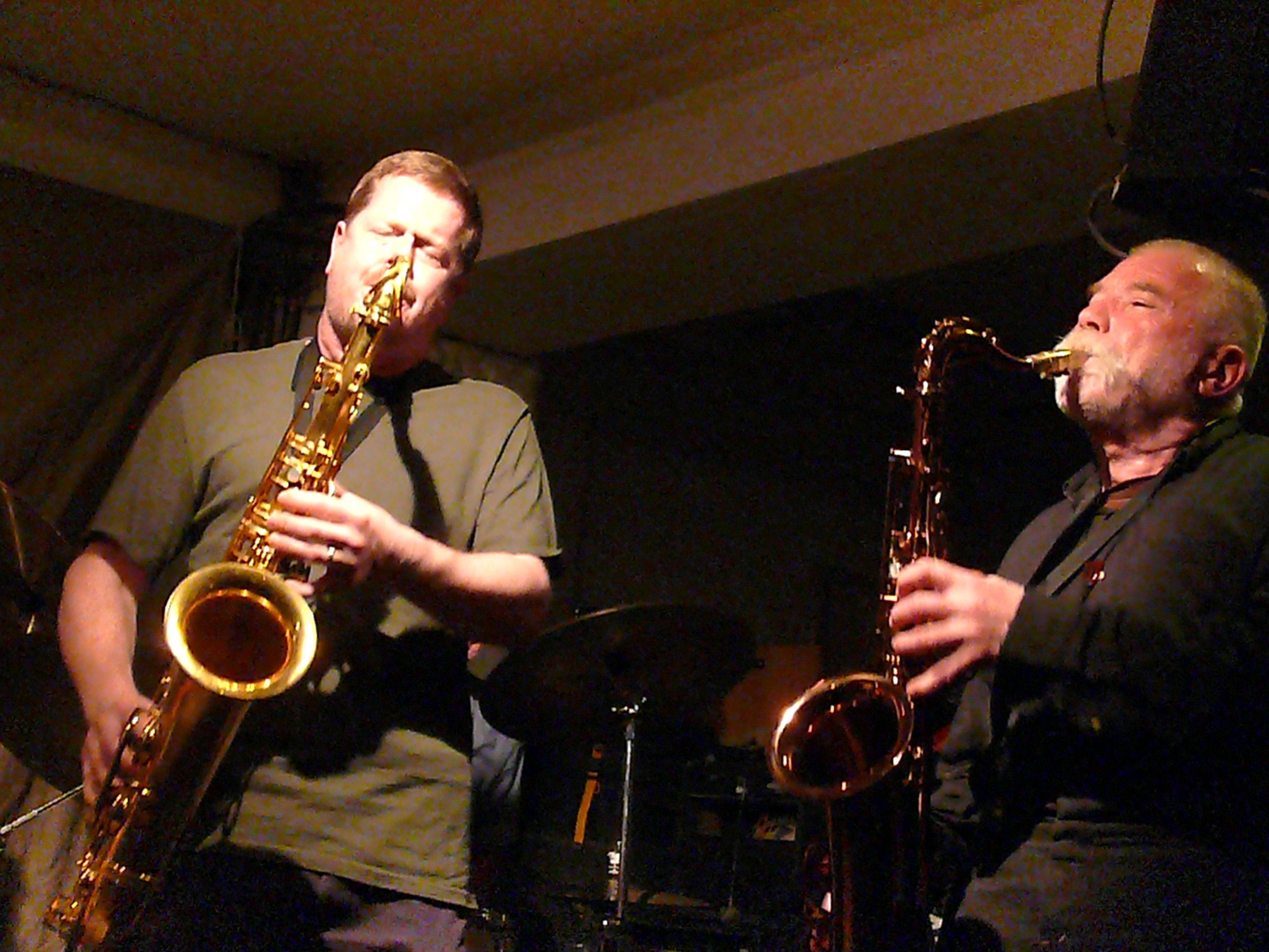 Ken Vandermark and Peter Brotzmann at Cafe Oto, London
