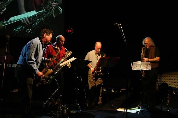 Rova Saxophone Quartet at Maison de la Radio, RSR, Espace 2, Lausanne, Switzerland, 2004