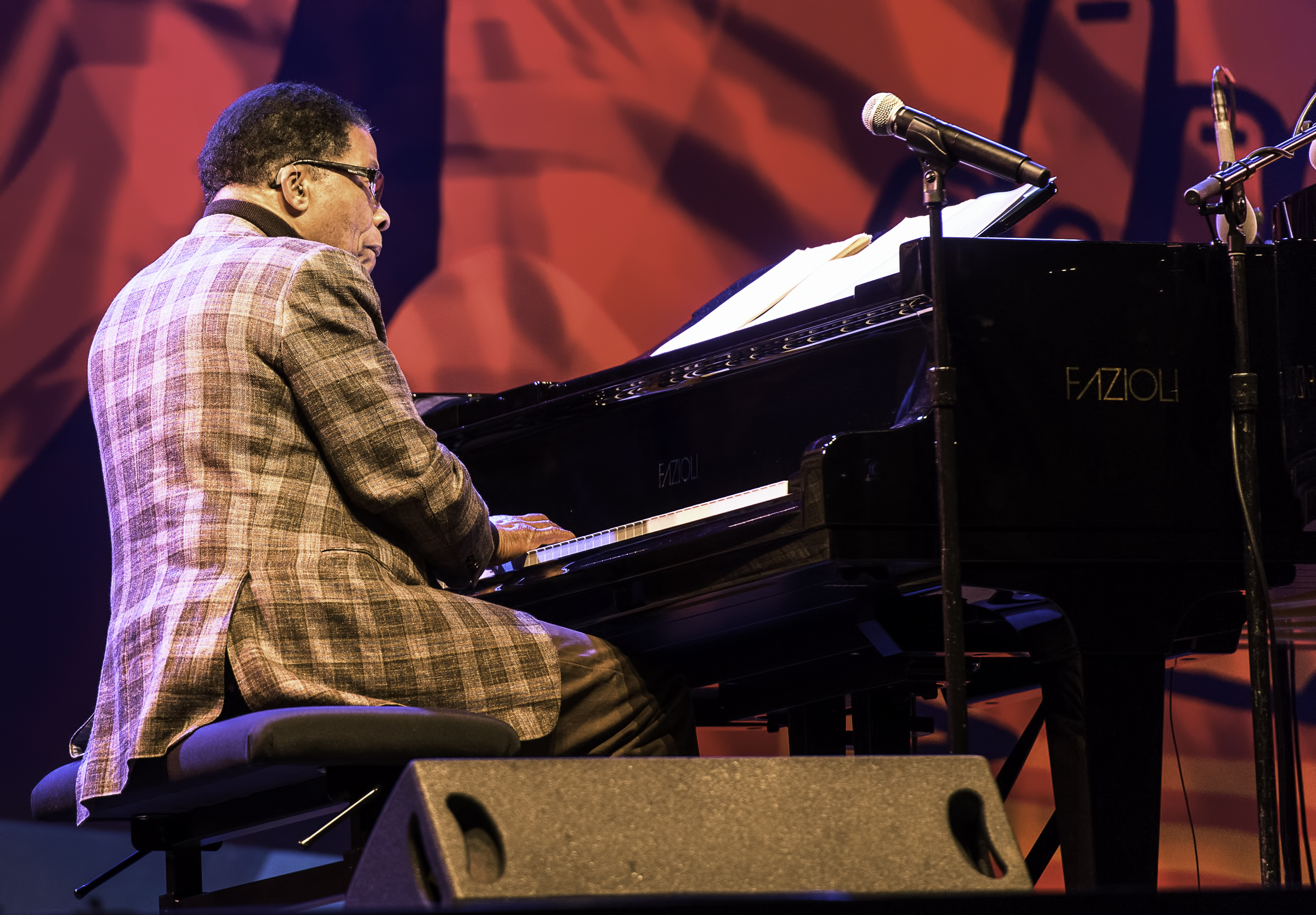 Herbie Hancock with Chick Corea at the Monterey Jazz Festival