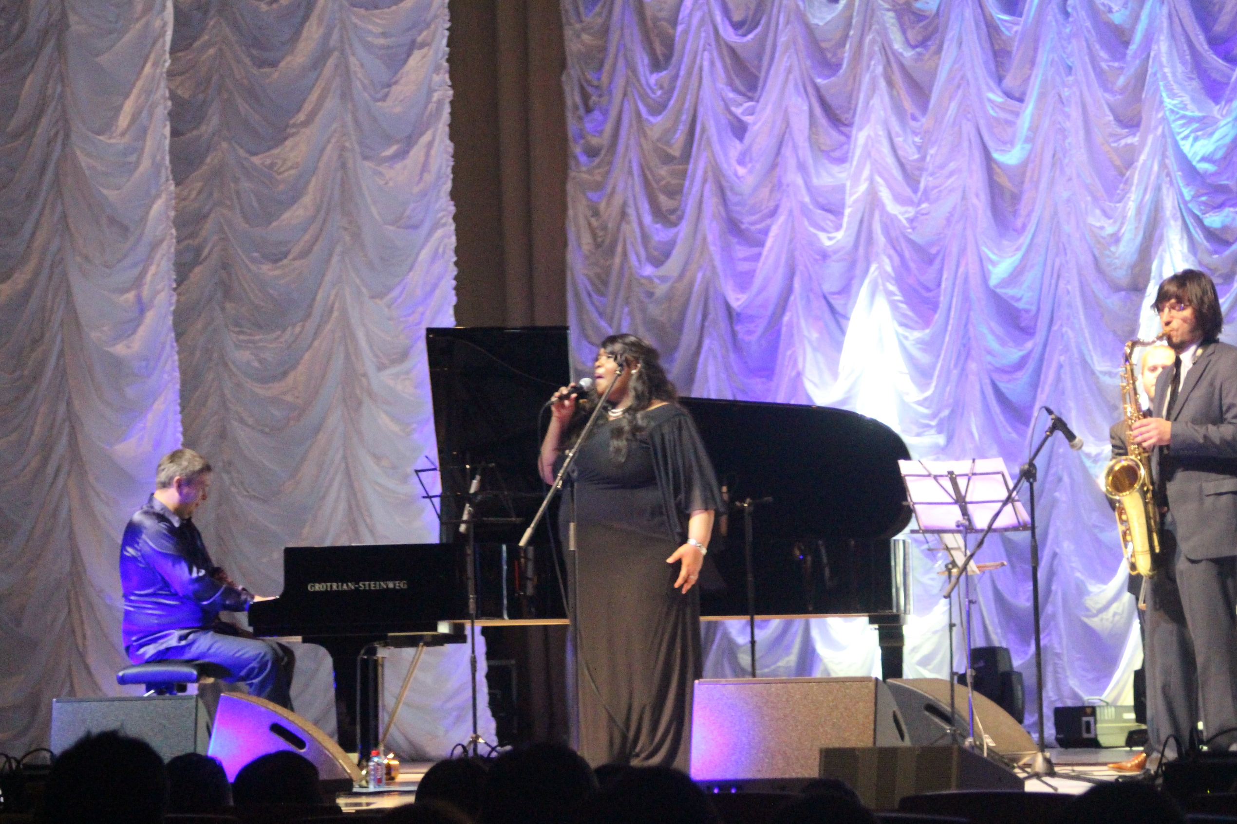 Michelle walker in concert at at the philharmonic in vladivostok, russia.
