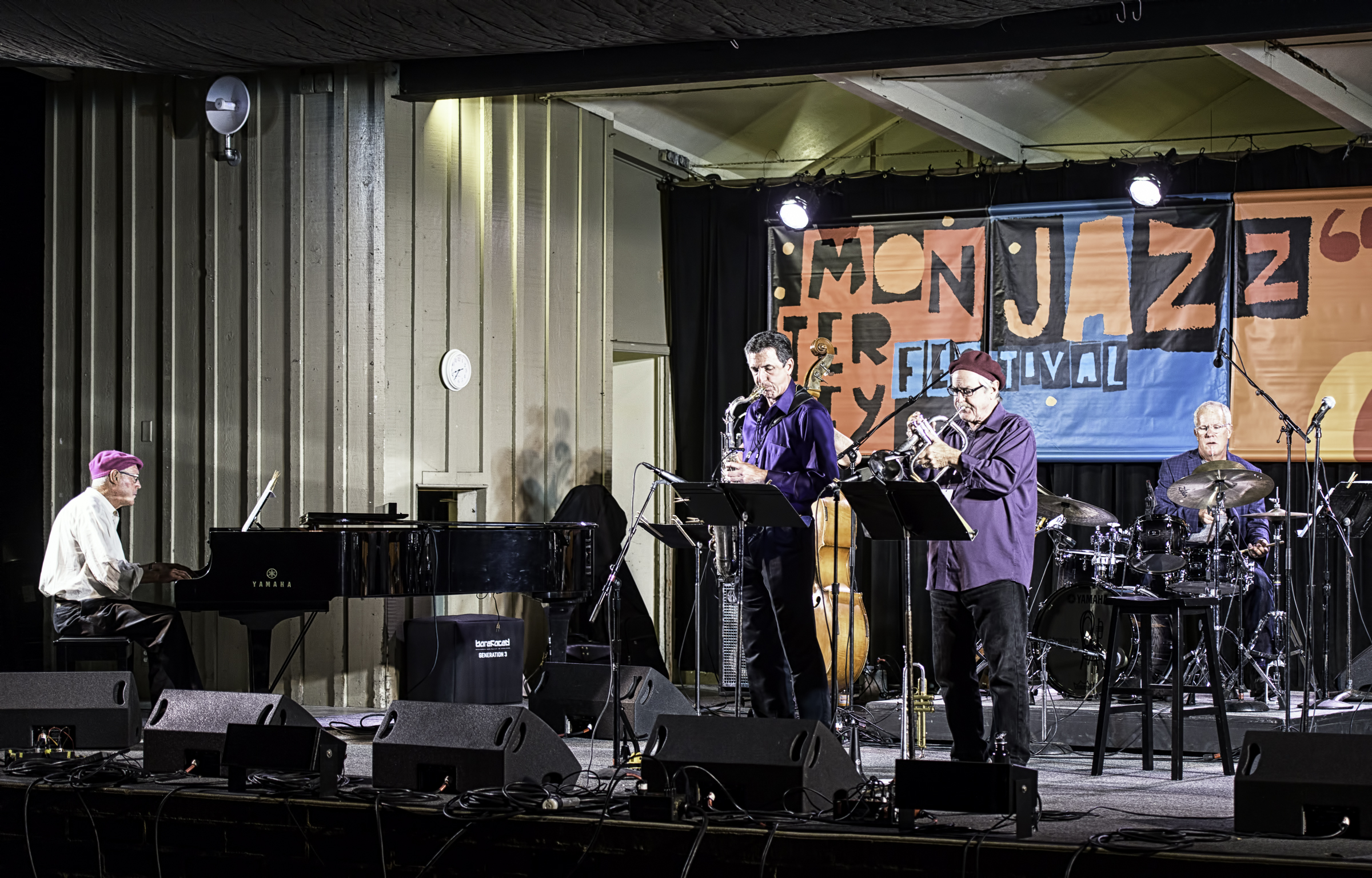 Biff Smith, Paul Tarantino, Brian Stock and Patrick Tregenza with Along Came Betty at the Monterey Jazz Festival
