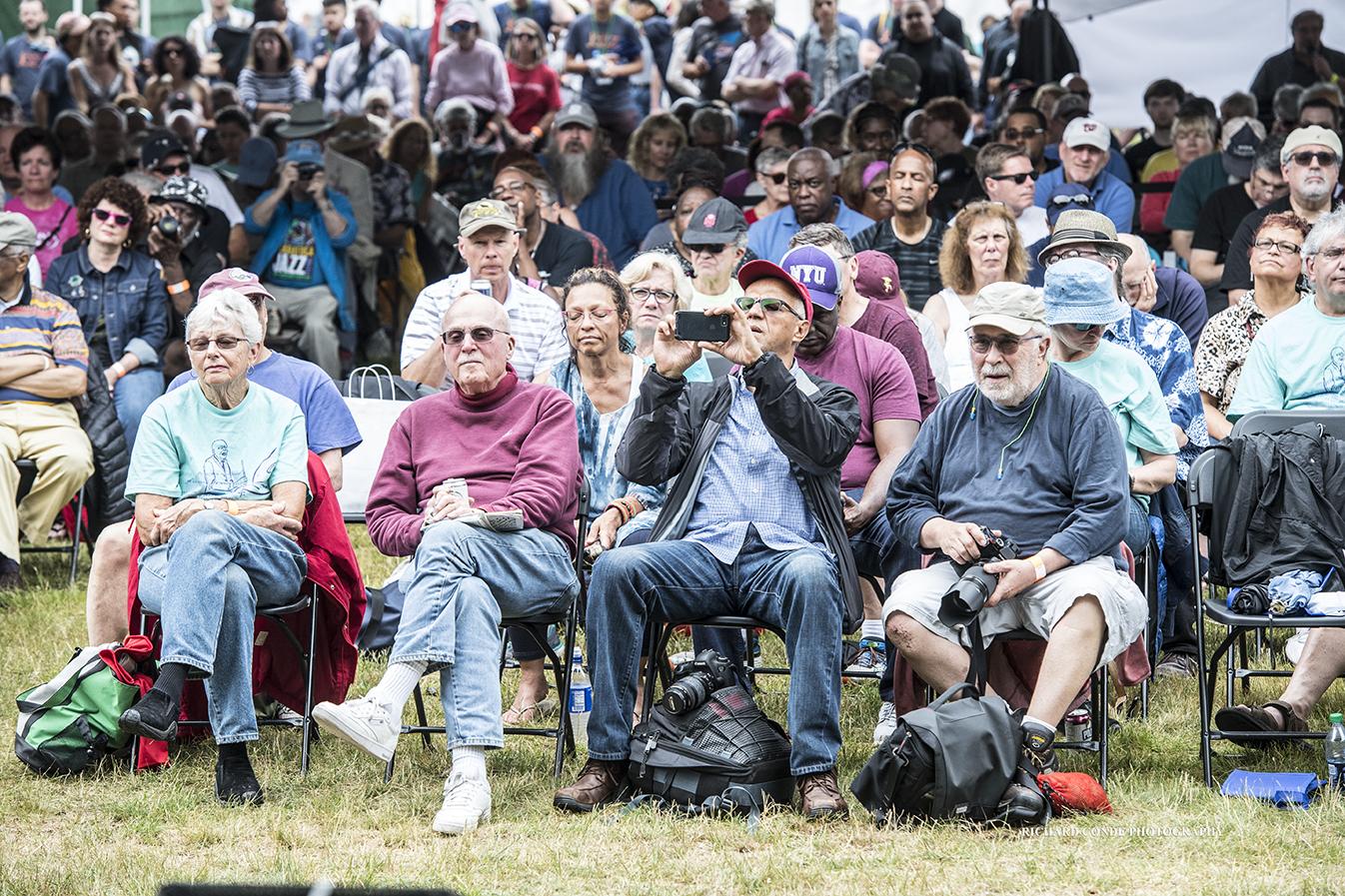Jazz fans at the 2018 Freihofer Saratoga Jazz Festival